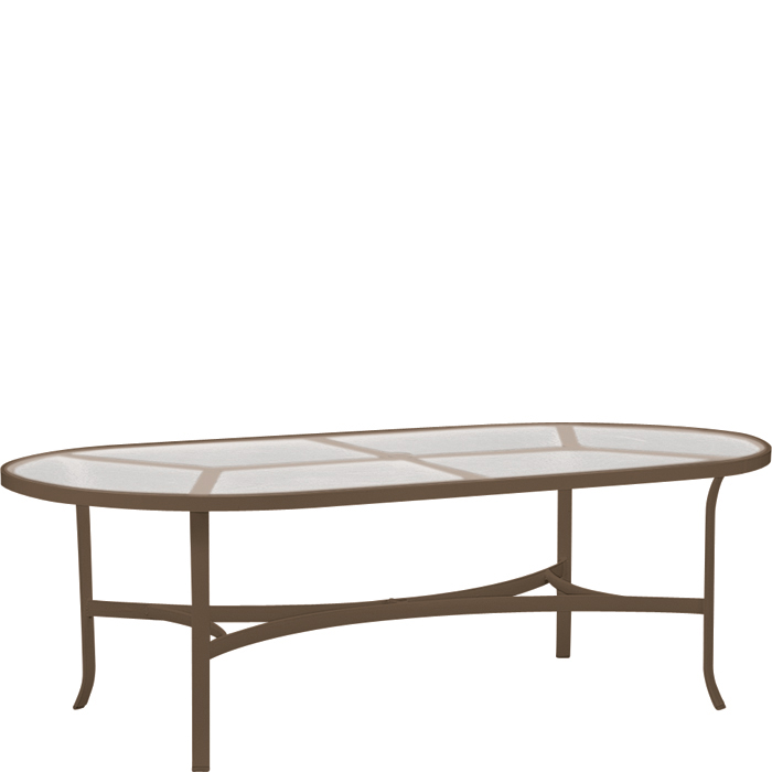 Dining table tropitone oval dining table - Oval glass dining table ikea ...