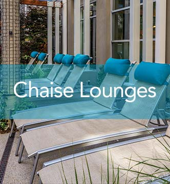 Chaise Lounges Commercial Contract. Tables Commercial Contract