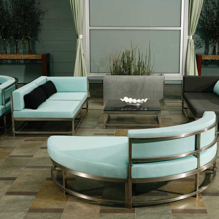 Cabana club modular stainless steel tropitone for Contemporary outdoor furniture