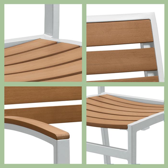 Jado Faux Wood Slat   Jado Faux Wood Slat Outdoor Furniture Tropitone