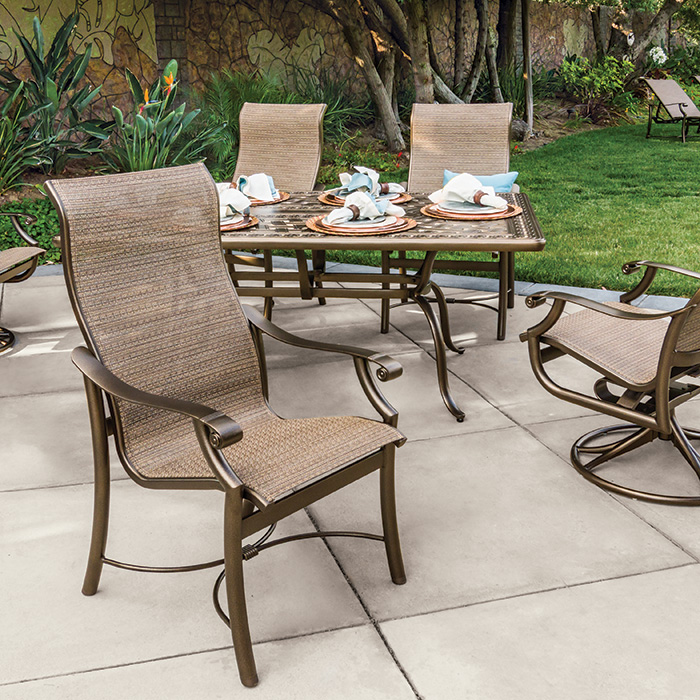sling patio furniture - Tropitone Patio Furniture