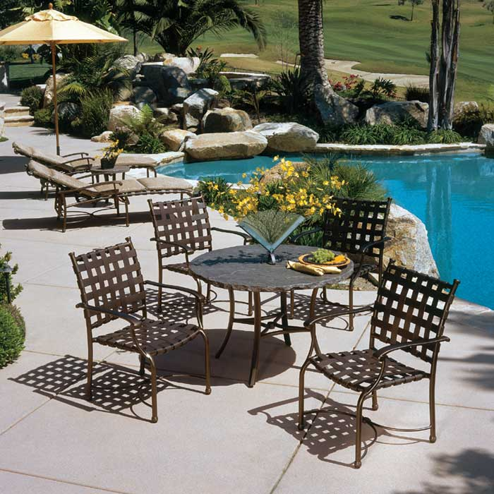 Sorrento Cross Strap Cross Strap Patio Furniture Tropitone
