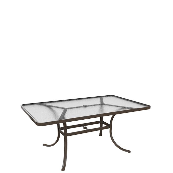 Outdoor Table Parts : Acrylic quot rectangular umbrella dining table