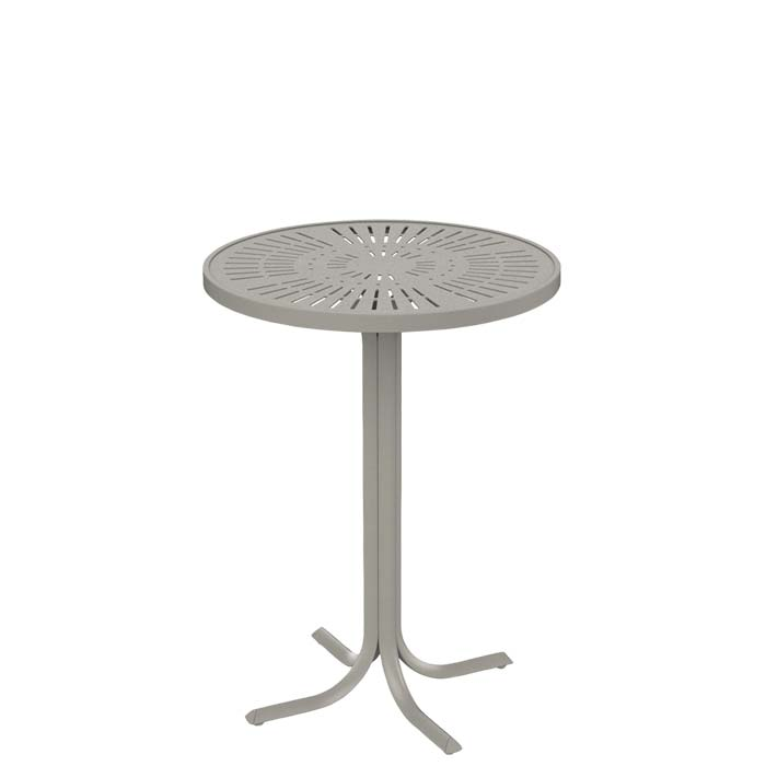 outdoor round aluminum bar table