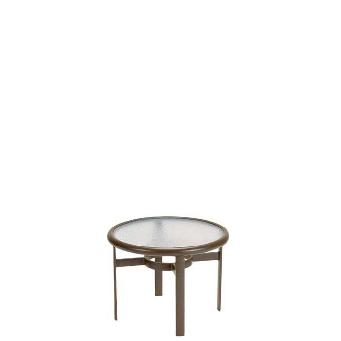 round patio acrylic tea table