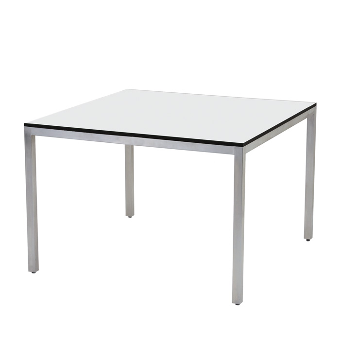 42 Sq Stainless Steel HPL Dining Table Tropitone
