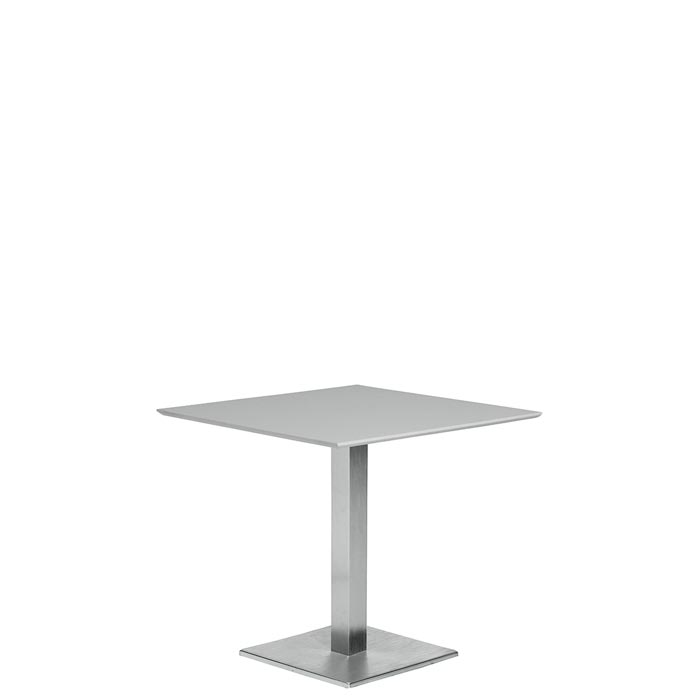 Square KD Pedestal Dining Table Tropitone - White square pedestal table