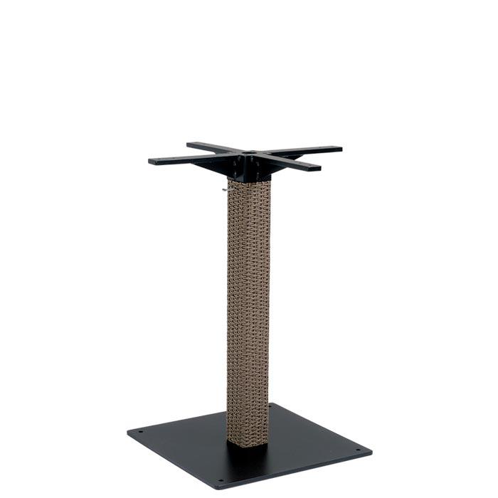 outdoor woven pedestal bar table base