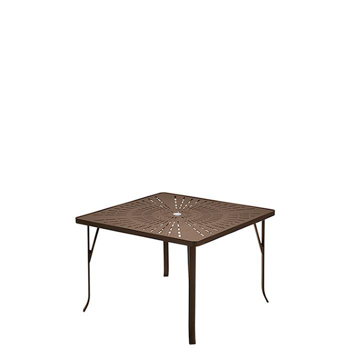 La Stratta 42 Quot Quot Square Umbrella Dining Table Commercial