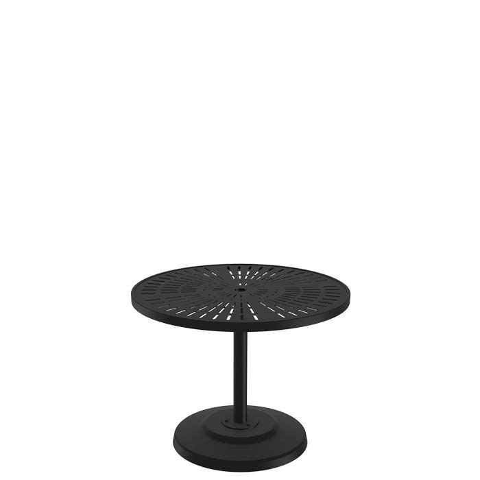 "Patio Umbrella Stand Table: La'Stratta 36"" Round KD Pedestal Dining Umbrella Table"