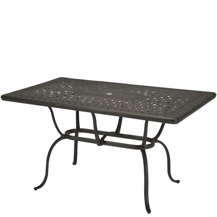 Rectangular Cast Aluminum 70 X 43 Dining Table Tropitone