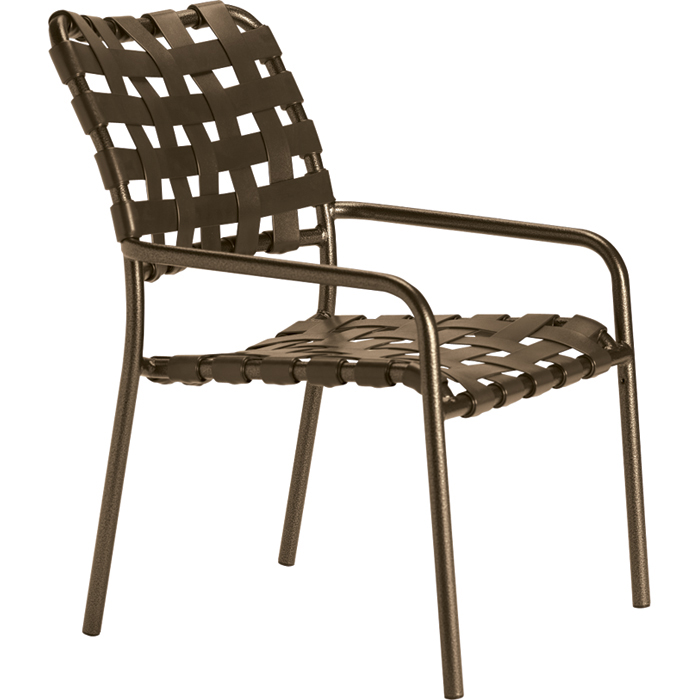 Kahana Cross Strap Dining Chair Outdoor Patio Furniture