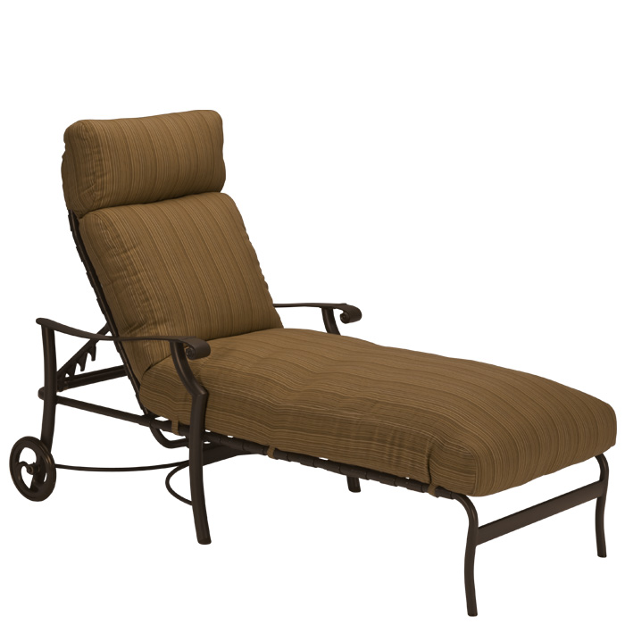 Montreux Cushion Chaise Lounge With Wheels Tropitone
