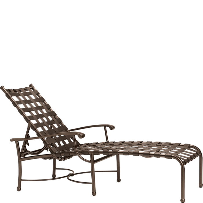 Sorrento Strap Chaise Lounge Outdoor Patio Furniture