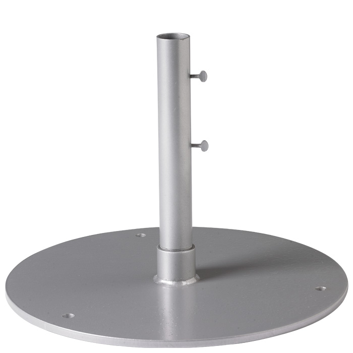 Steel Plate Base 24 Quot Round 1 5 Quot Pole Free Standing