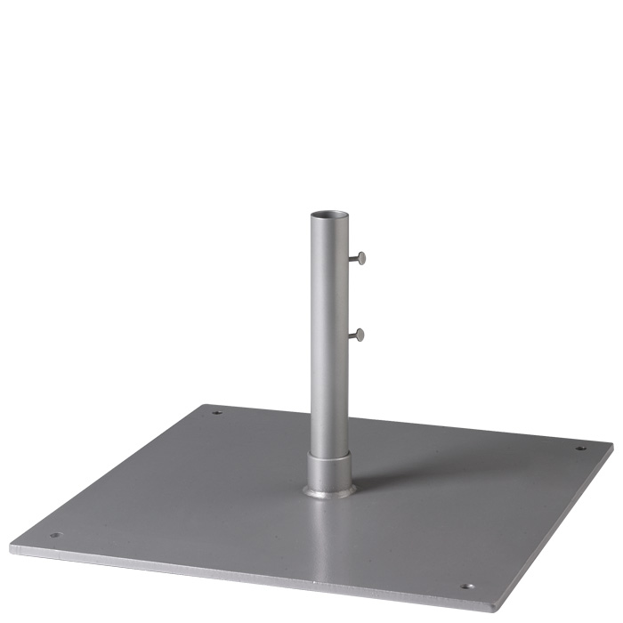 Steel Plate Base 24 Square 1 5 Pole Free Standing