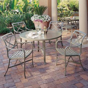Palladian cafe cast aluminum patio furniture tropitone for Tropitone patio furniture