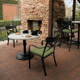 outdoor cast aluminum chairs