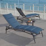 outdoor padded chaise lounge