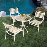 outdoor strap table and chairs