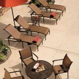 outdoor relaxed sling furniture
