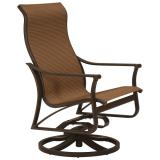 patio sling swivel action lounger