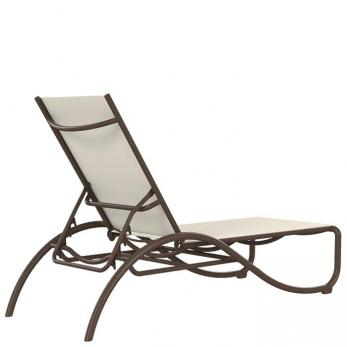 La Scala Relaxed Sling Chaise Lounge Outdoor Patio