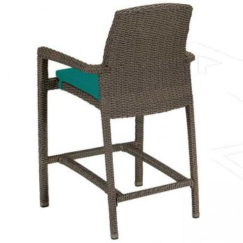 Evo Woven Stationary Bar Stool With Pad Tropitone
