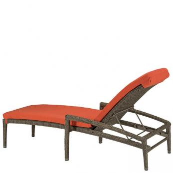 Evo Woven Chaise Lounge With Full Pad Outdoor Patio