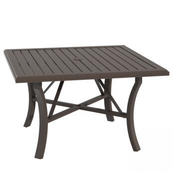 banchetto 48 square kd dining umbrella table tropitone. Black Bedroom Furniture Sets. Home Design Ideas