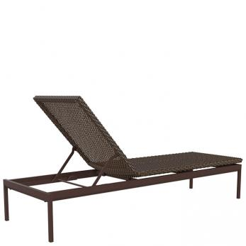 Cabana club woven 15 armless chaise lounge tropitone for Cabana chaise lounge