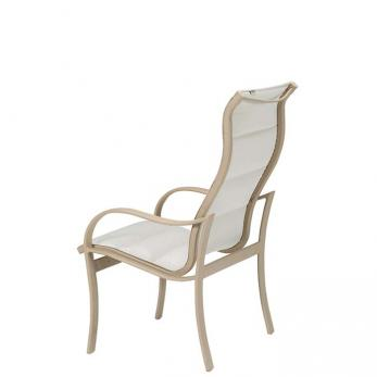Shoreline Padded Sling High Back Dining Chair Tropitone