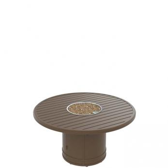 Round Fire Pit Riser Dining Height Outdoor Patio