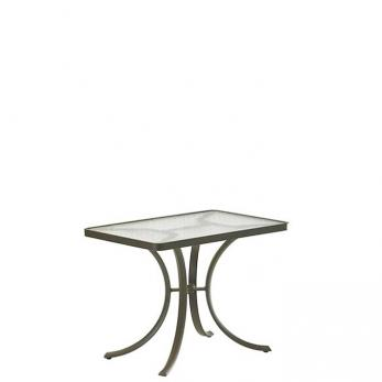 "Acrylic Rectangular 36"" x 24"" Dining Umbrella Table"