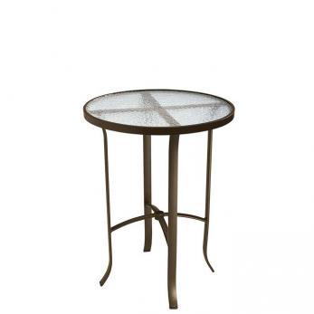 """Acrylic Round 30"""" Bar Table"""