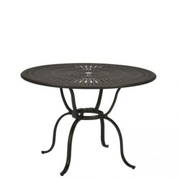 """Cast Aluminum Round 49"""" Counter Umbrella Table, KD"""