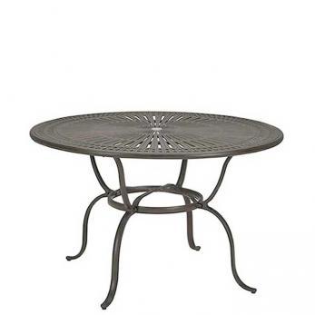 """Cast Aluminum Round 55"""" Counter Umbrella Table, KD"""