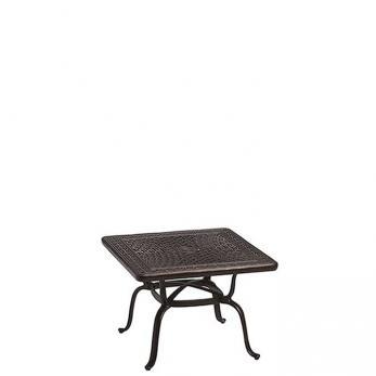 """Cast Aluminum Square 31"""" End Table, KD"""