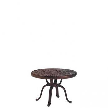 """Cast Aluminum Round 25"""" Tea Table"""