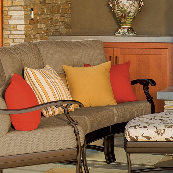 Decorate your outdoor patio furniture with fabrics that coordinate with  your indoor living spaces and let these areas flow together! - Cushion Fabrics Tropitone