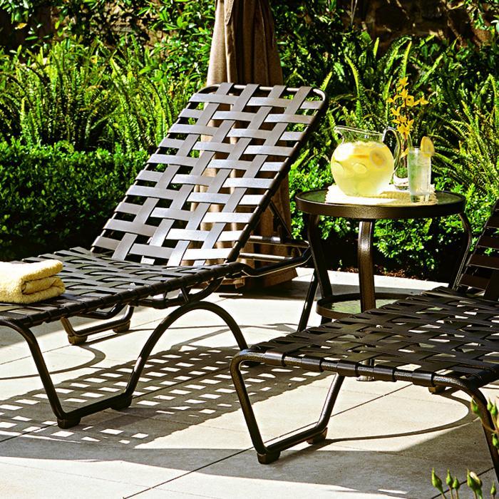 vinyl strap patio furniture