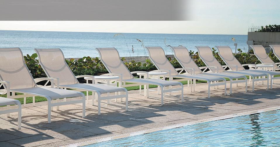 Sling Furniture | Resort Pool Sling Chairs | Hotel Sling Pool Chairs |  Tropitone