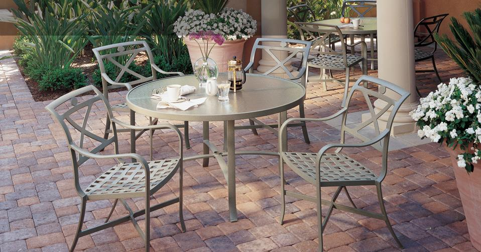 Palladian Cafe Cast Aluminum Patio Furniture