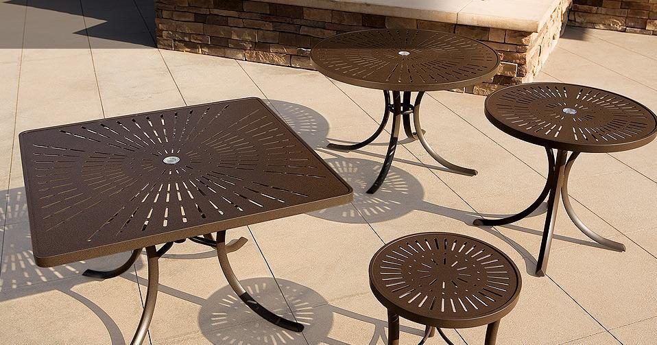 Patterned Aluminum Tables La Stratta Aluminum Table