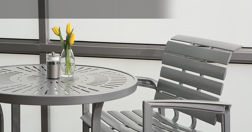 Veer Cast Aluminum Chairs Tropitone