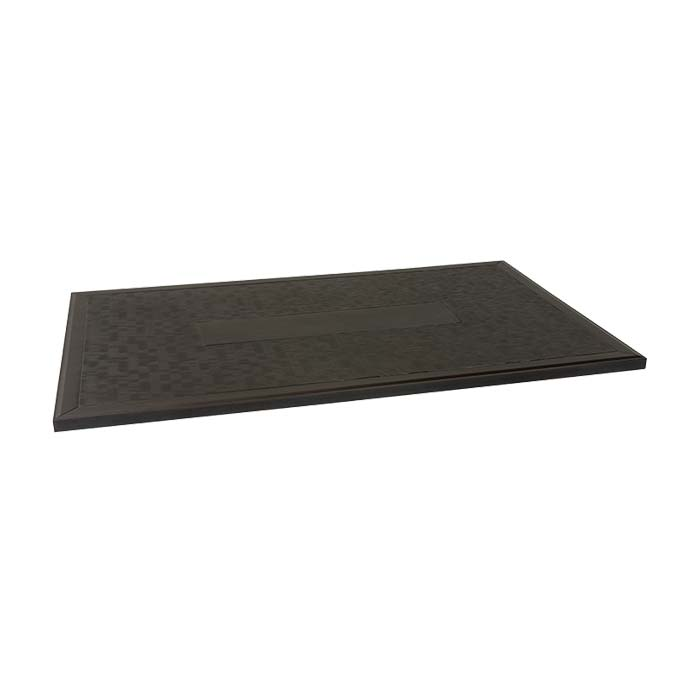 rectangular textured patio table top