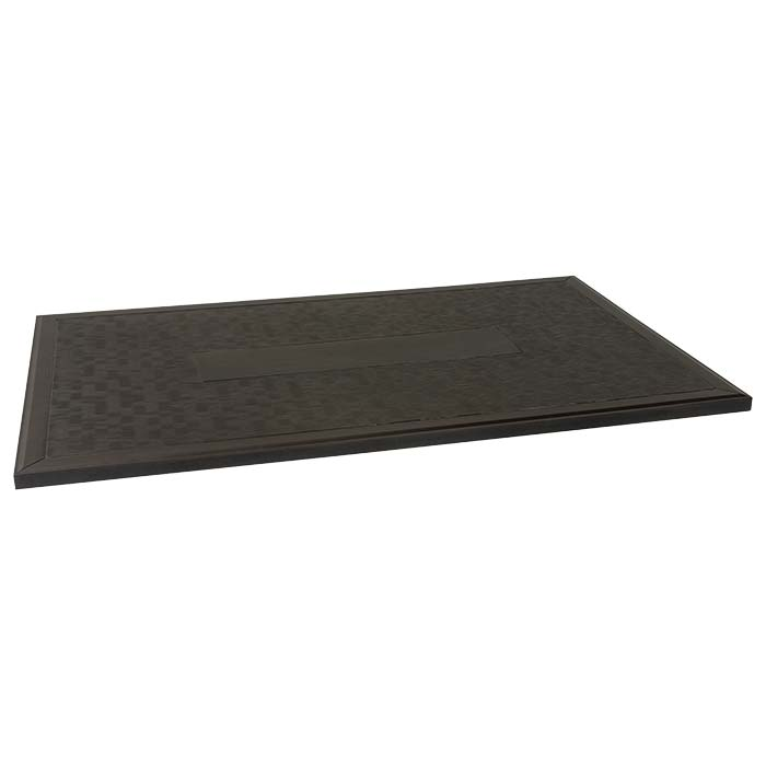 rectangular textured patio table top